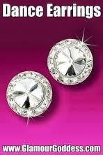 Rhinestone Earrings 20mm Clip Crystal