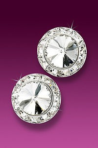 Rhinestone Earrings 17mm Post
