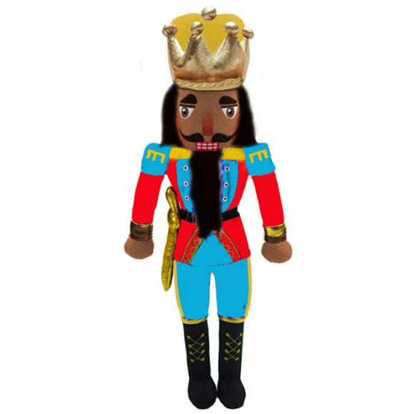 Plush Doll African American King Nutcracker