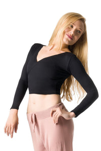 So Danca Adult V-Neck Long Sleeve Crop Top