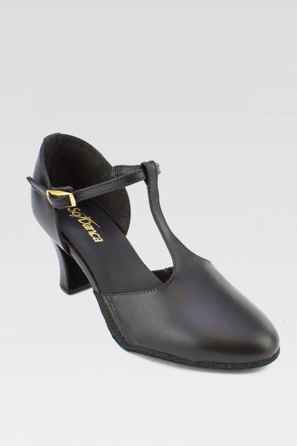 "SoDanca Connie 2.5"" T-Strap Leather Character Shoe"