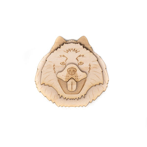 Chow Face Laser Cut Wood Magnet