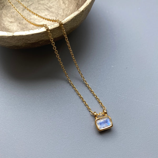 Moonstone Mini Signet Necklace