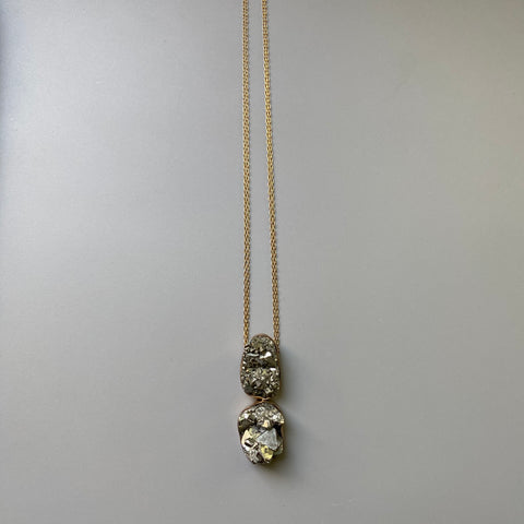 Double Pyrite Necklace