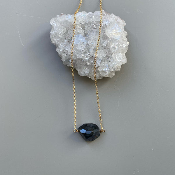Iolite Necklace (raw)