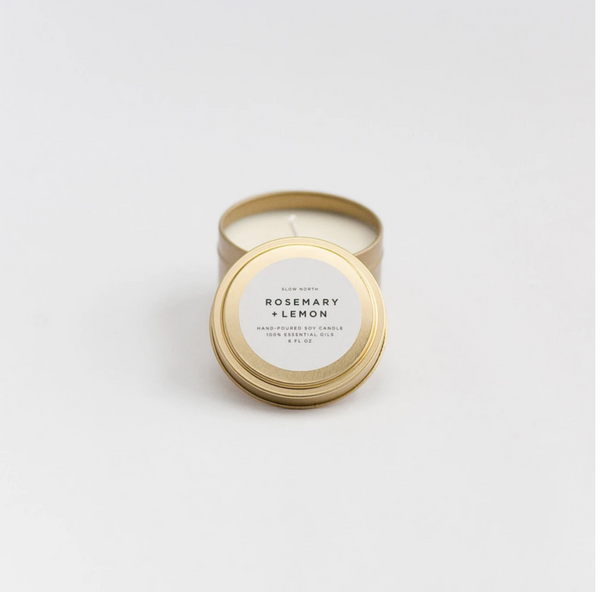 Rosemary + Lemon Candle - Travel Tin