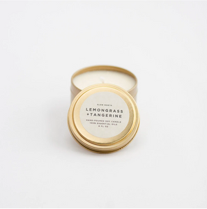 Lemongrass + Tangerine Candle - Travel Tin