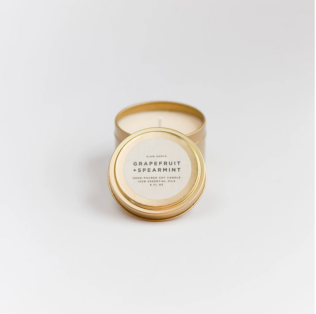 Grapefruit + Spearmint Candle - Travel Tin