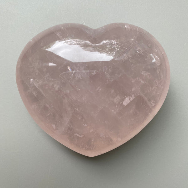 Rose Quartz Heart - Large