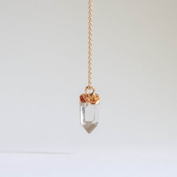 Quartz Drop Necklace (Petite)