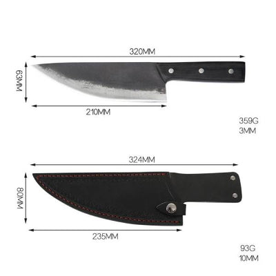 size of multipurpose serbian chef knife