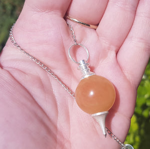 Golden Quartz Sphere Pendulum