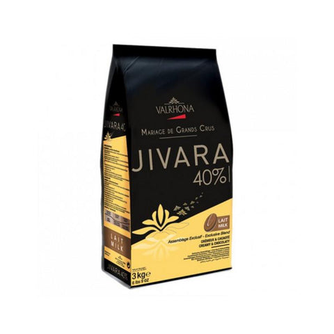 Chocolate coverture callets Jivara 40%, 3Kg - The Gourmet Market