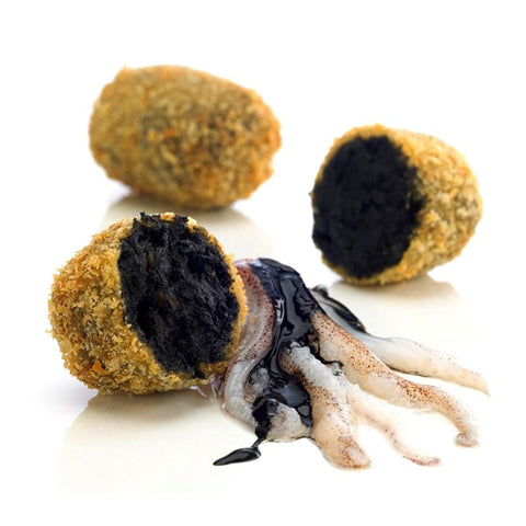 "Croquetas ""Baby Squid & Ink"", 8pc/200Gr - The Gourmet Market"