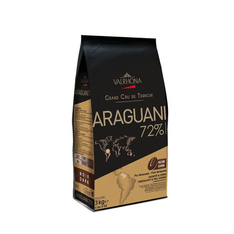 Chocolate coverture callets Araguani 72%, 3Kg - The Gourmet Market