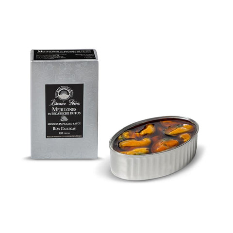 Mussels in Escabeche 10-12ea/can (Silver line), 120Gr - The Gourmet Market