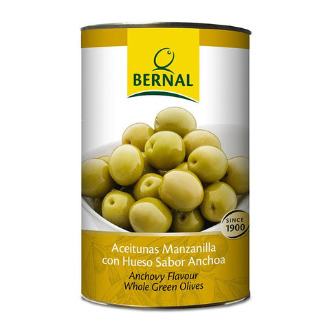Olives Manzanilla Whole, 2.5Kg Drained - The Gourmet Market