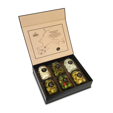 Olives Gourmet Mixed Flavours Gift Box, 6x225Gr Drained