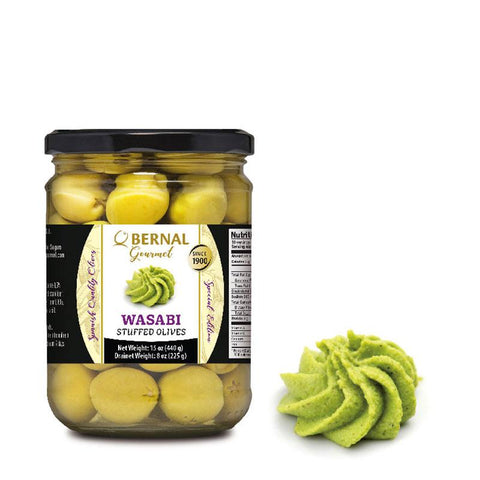 "Olives Gourmet stuffed with ""Wasabi"", 225Gr Drained - The Gourmet Market"