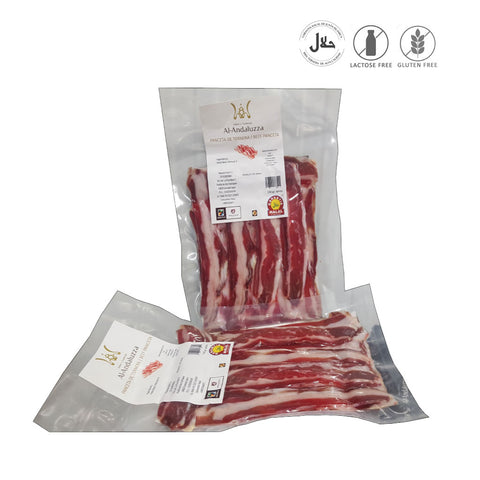 Halal Beef Charcuterie Pancetta Bacon, 150gr