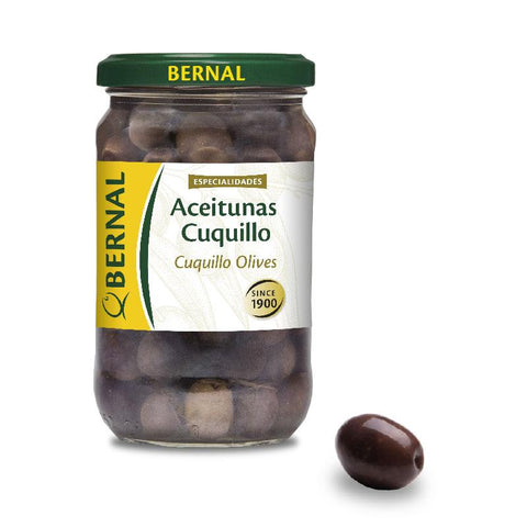 Olives Cuquillo Black Whole, 180Gr Drained - The Gourmet Market