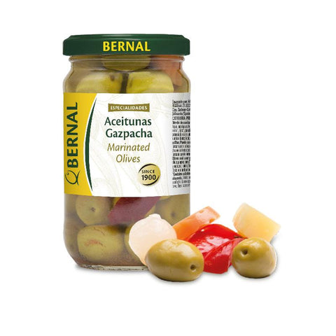 Olives Mix Spicy Gazpacha, 180Gr Drained - The Gourmet Market