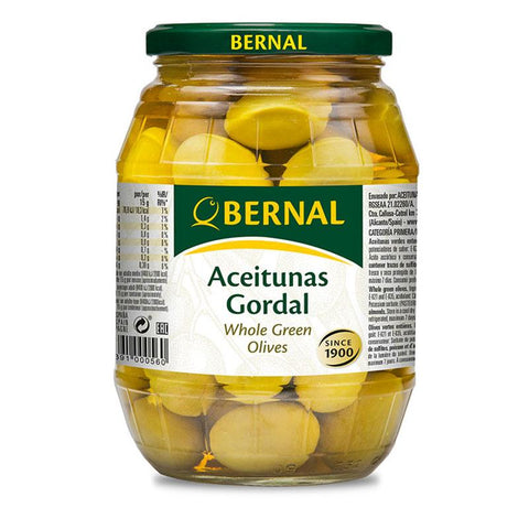 Olives Gordal Whole, 600Gr Drained - The Gourmet Market