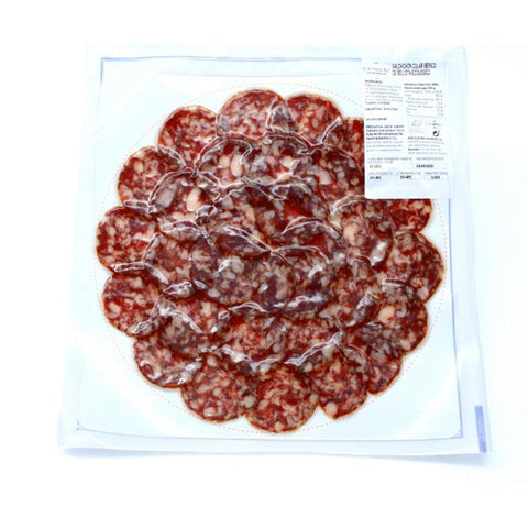 "Salchichon Iberico Bellota 100% ""SLICED"", 100Gr - The Gourmet Market"
