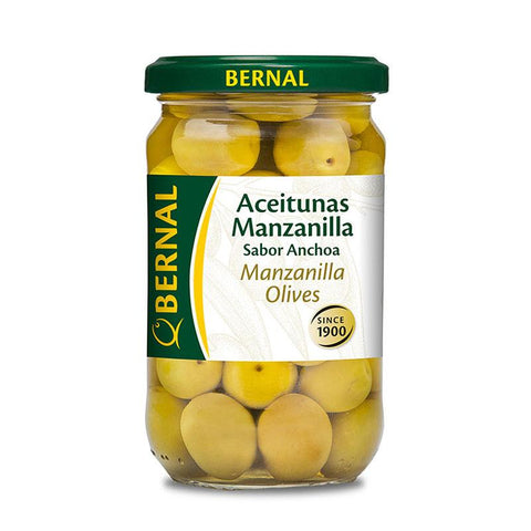 Olives Manzanilla Whole, 180Gr Drained - The Gourmet Market