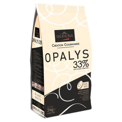 Chocolate White coverture callets Opalys 33%, 3Kg - The Gourmet Market