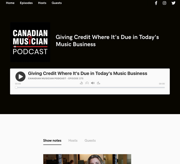 Canadian Musician Podcast, CA