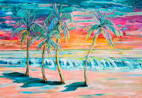 """Empty Beach"" Palm Trees New 5/2020"