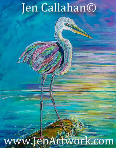 """Heron Sunset"""