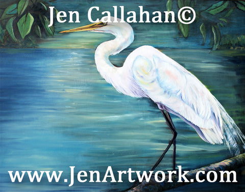 """White Egret Oil"""