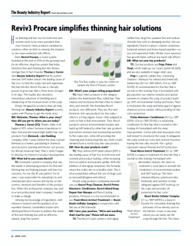 Beauty Industry Report - Reviv3 Procare Press