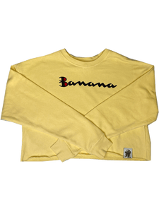 WOMENS CROP BANANA SWEATSHIRT