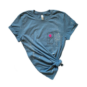 A Beauty and a Beast full length Tee / Steel Blue