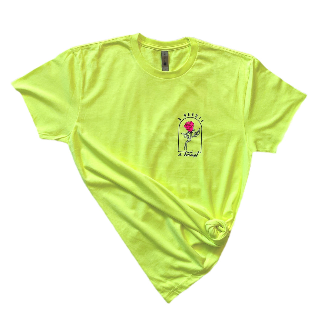 A Beauty and a Beast full length Tee / Neon Yellow