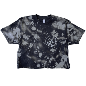 TIE DYE Weightlifting Crop Silver - Rose/Find your FIRE