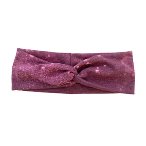 Twisted Headband - Pink/maroon