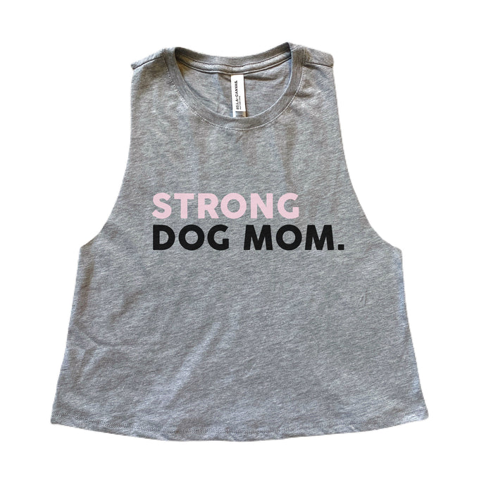 Strong Dog Mom Racerback Tank Top