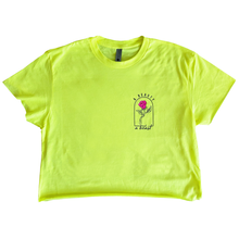 Load image into Gallery viewer, A Beauty and a Beast Crop Top / Neon Yellow