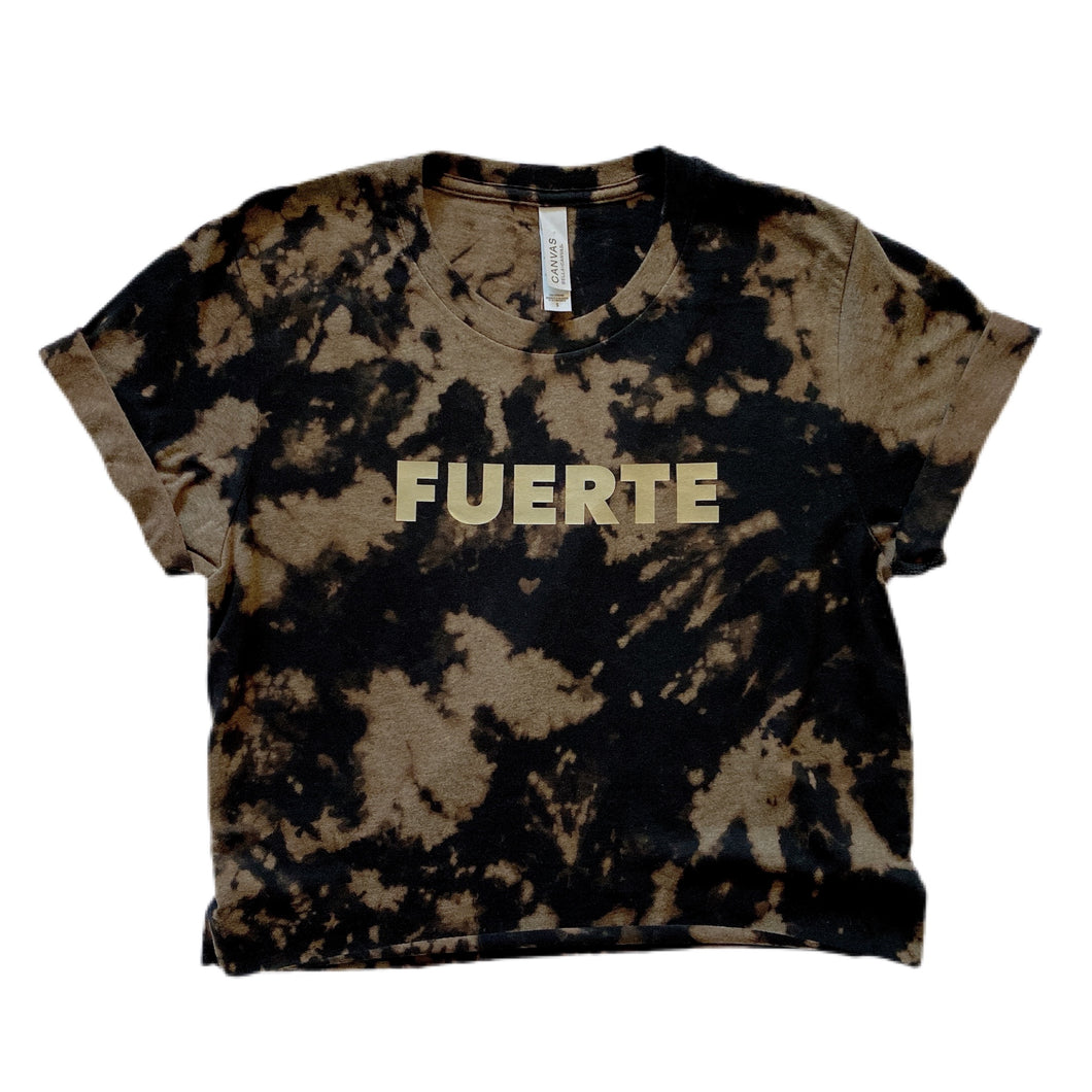 FUERTE Crop Top / Black & Gold