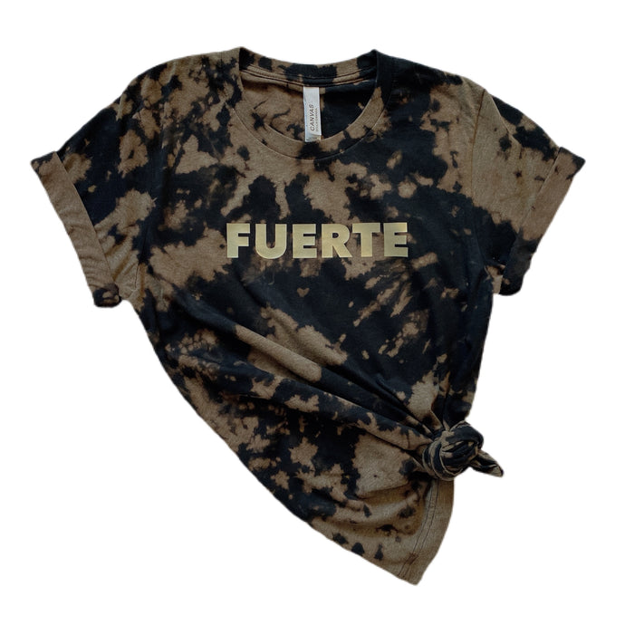 FUERTE full length Tee / Black & Gold