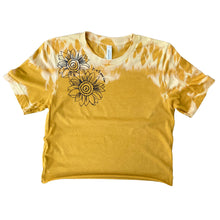 "Load image into Gallery viewer, Sunflower ""it's ok to grow slow"" Crop Top - Burnt Yellow"