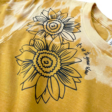 "Load image into Gallery viewer, Sunflower ""it's ok to grow slow"" full length Tee - Burnt Yellow"
