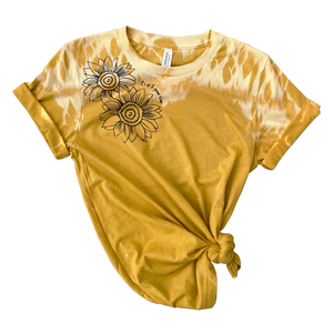 "Sunflower ""it's ok to grow slow"" full length Tee - Burnt Yellow"