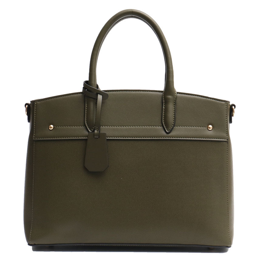 Khaki Vegan Leather Ladies Handbag
