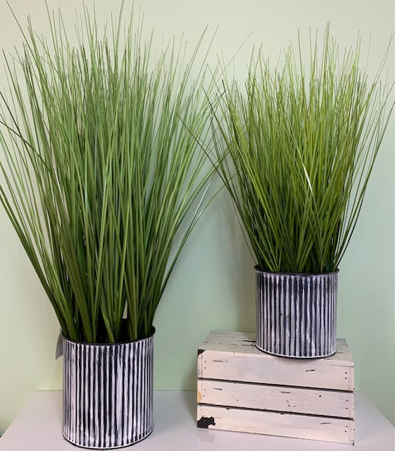 Artificial Tall Grass in Pot