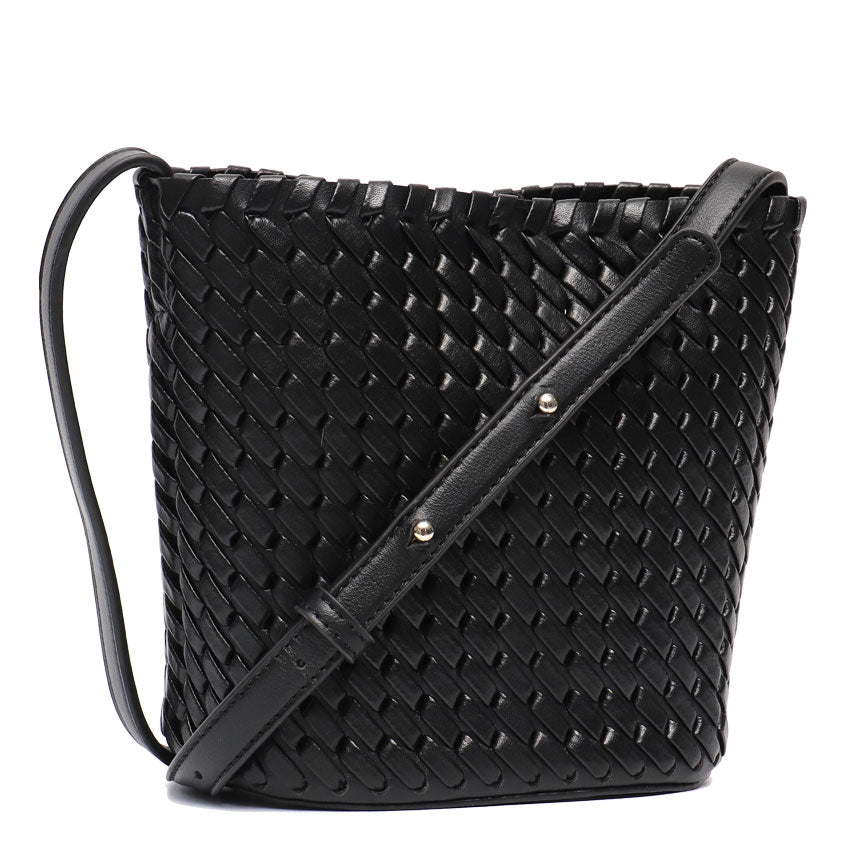 Black Vegan Leather Handbag